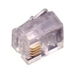 Fanton FME22290 Spina plug 6/4 c. a contatti dorati Trasparente