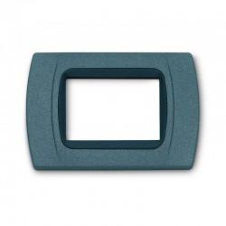 PLACCA Multiplac in Abs compatibile per serie Living Light, International 3 moduli colore Grigio ardesia