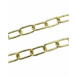 Catena Genovese filo diametro 3,8mm acciaio ottonato zaponato (1 metro)