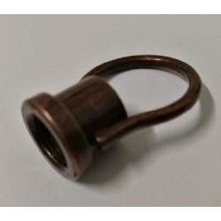 Gancio con anello elettrosaldato filetto M10 x 1 acciaio bronzato