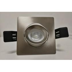 Faretto quadrato incasso per lampada gu10 , gu5.3 mr16 led/alogena colore metallo spazzolato