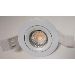 Faretto tondo incasso per lampada gu10 , gu5.3 mr16 led/alogena colore bianco