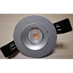 Faretto tondo incasso per lampada gu10 , gu5.3 mr16 led/alogena colore argento