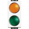 light - portalampada arancio/verde BTICINO N4372AV