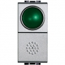 light tech - pulsante + portalamp verde BTICINO NT4038V