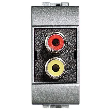light tech - modulo doppio RCA BTICINO NT4269R