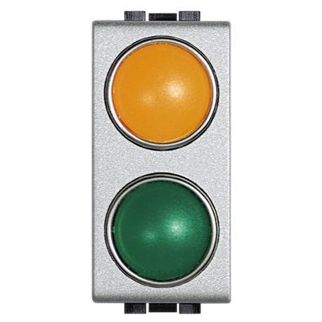 light tech - portalampada arancio/verde BTICINO NT4372AV