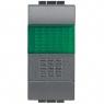 living int - pulsante NO + portalamp verde BTICINO L4038V