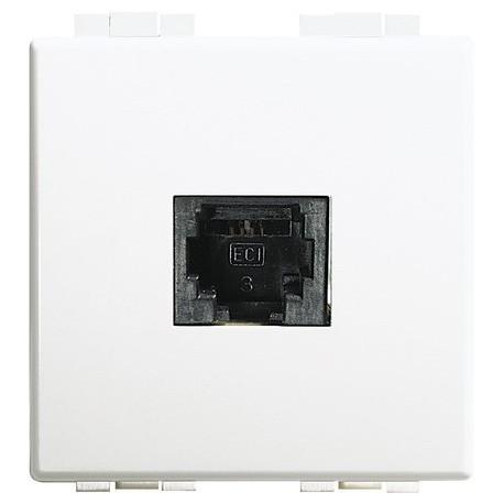 luna - connettore telefonico RJ11 2 moduli BTICINO C4233/11