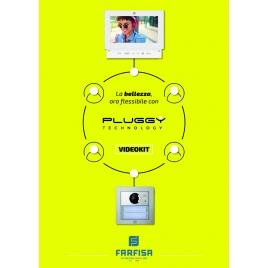 """KITVIDEOCITOFONO PLUGGY DIGITALE 2 FILI MONITOR 7"""" INCASSO"""