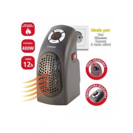 Mini stufa portatile 400w spina rotante display timer