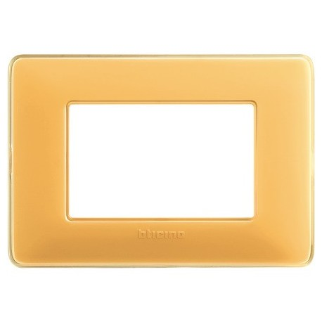 matix - placca 3p colors ambra BTICINO AM4803CAB