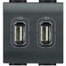 LL - caricatore USB 2 prese 1500mA 5V antr BTICINO L4285C2