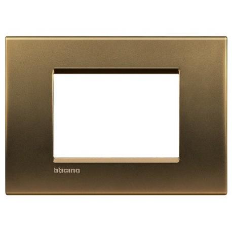 LL - placca 3P bronzo BTICINO LNA4803BZ