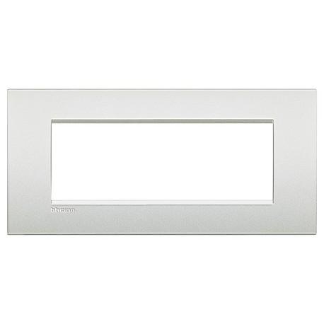 LL - placca 7P bianco perla BTICINO LNC4807PR