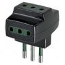 Vimar VIM00320 Adattatore multipla S11+3P11 nero