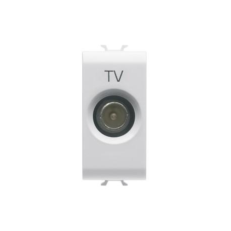 GEWISS GW10362 PRESA TV 1M PASS.5dB C.MASC.9,5mm BIANCO