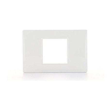 Placca 2M centrali bianco