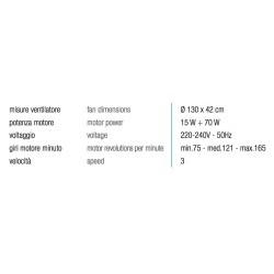 Perenz Ventilatore metallo finitura bianco, 4 pale. Telecomando onde radio incluso.