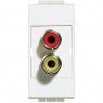 light - modulo doppio RCA BTICINO N4269R